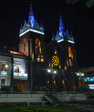 Church of Banos, Ecuador. Night view of the Church of Banos, Ecuador Royalty Free Stock Photo