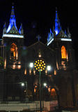 Church of Banos, Ecuador. Night view of the Church of Banos, Ecuador Royalty Free Stock Image