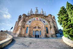 Church Barcelona HDR Royalty Free Stock Image