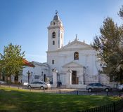 Church Basilica de Nuestra Senora Del Pilar vicino al cimitero di Recoleta - Buenos Aires, Argentina Fotografie Stock Libere da Diritti
