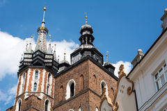 Basilica of Holy Virgin Mary in Krakow. The basilica of the holy virgin mary (Krakow, Poland&#x29 Stock Photos