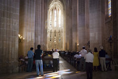 Church in Batalha monastery Royalty Free Stock Photo