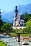 Church in the Bavarian Alps in Germany Stock Image