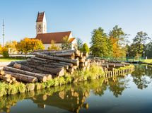 Church in a bavarian village Royalty Free Stock Images