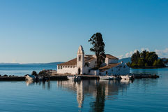 Church in the Bay Islands of Corfu, Greece Royalty Free Stock Photography