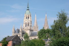 Church of Bayeux. The Church of Bayeux in nice weather Royalty Free Stock Photos