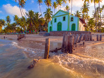 Church on the beach royalty free stock photo