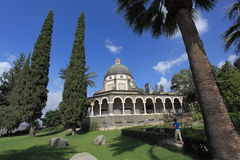 Church of the Beatitudes, Lake Tiberias Royalty Free Stock Photography