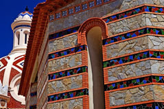 Church with beautiful mosaic. Church with beautiful architecture and ornament. Lloret de Mar, Costa Brava, Spain Royalty Free Stock Image