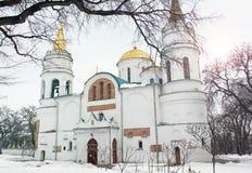 Church. Beautiful church in winter royalty free stock photo
