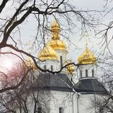 Church. Beautiful church in winter royalty free stock images