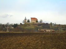 Church in beautifull country in the middle in Europe, Czech Republic Stock Images