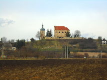 Church in beautifull country in the middle in Europe, Czech Republic Royalty Free Stock Photos