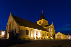 Church of Beauvoir-sur-mer in Vendee, France Royalty Free Stock Photo