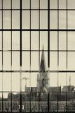 Church behind glass Royalty Free Stock Photos