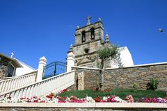 Church with belfry in Babe, Portugal Royalty Free Stock Photos