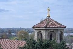 Church Belfry Belgrade Serbia Stock Photo