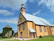 Church and belfry , Lithuania Stock Images