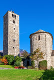 Church and belfry in Locarno, Switzerland. Stock Photo