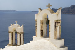 Church belfry in Oia Royalty Free Stock Photo