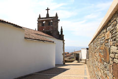 Church with belfry in the village Babe, Portugal Royalty Free Stock Photo