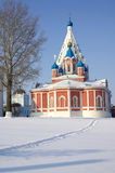 Church and Belfry in winter Kolomna Stock Photography