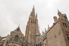 Church in Belgium Flanders City Bruges Royalty Free Stock Photos