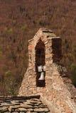 Church Bell. Cross and church bell. Ermitage de Saint-Guilhem de Combret. Languedoc-Roussillon, Pyrénées-Orientales, Le Tech. France Royalty Free Stock Images