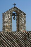 Church bell. Belltower in French church Royalty Free Stock Images