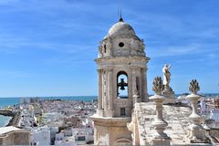 Church Bell, Cadiz Cathedral stock image
