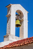 Church bell. At the greek orthodox dome Royalty Free Stock Photography