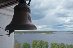 Church bell. Nilov monastery. View of Lake Seliger. Russia Stock Photography