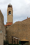 Church bell tower Dubrovnik Crooatia Royalty Free Stock Photo