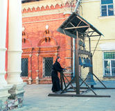 The church bell ringer Royalty Free Stock Photography