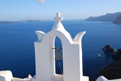 Church bell in santorini Stock Images
