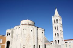 Church with bell tower. Ршыещкшс Church with bell tower in Zadar Croatia Stock Photos