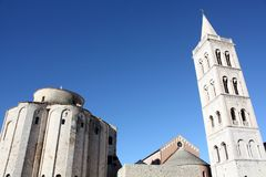 Church with bell tower. Ршыещкшс Church with bell tower in Zadar Croatia Stock Photo