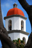 Church Bell Tower. Shot of a church bell tower through the trees Stock Images