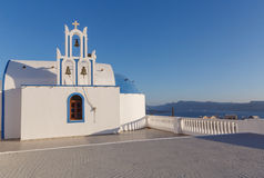 Church with bell tower in Akrotiri Royalty Free Stock Photography