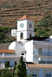 Church bell tower, Algarrobo, Spain. Royalty Free Stock Photo