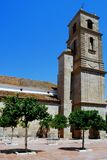 Church bell tower, Alora, Spain. Stock Images