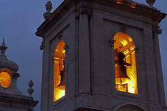 Free Church Bell Tower At Night Stock Image - 43469281