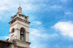 Church Bell Tower in Ayacucho, Peru Royalty Free Stock Photos