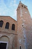 Church and Bell Tower of the basilica di santa eufemia in grado Stock Photography