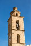 Church bell tower at Castifao in northern Corsica Royalty Free Stock Photos