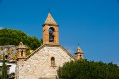 Church bell tower Eze France Stock Photo