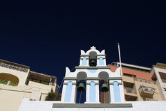 Church bell tower in Fira,Santorini Royalty Free Stock Photo