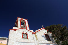 Church bell tower in Fira,Santorini Royalty Free Stock Images