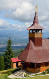 Travel to Romania: Straja Church bell tower Stock Photos