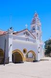 Church  with a bell tower. Kato Monastery Tsambika. Rhodes Stock Photography